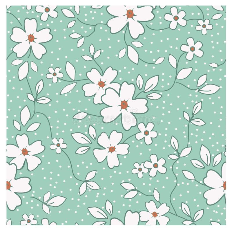 Teste padrão floral retro sem emenda ilustração royalty free