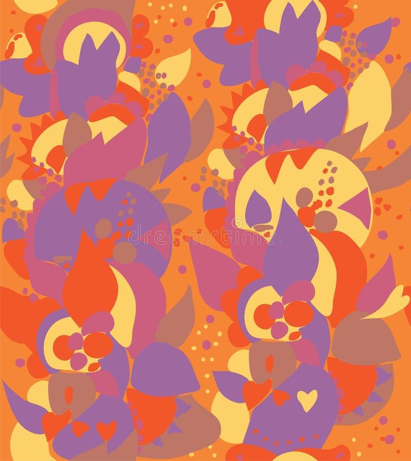 Teste padrão floral sem emenda étnico do leste ilustração stock