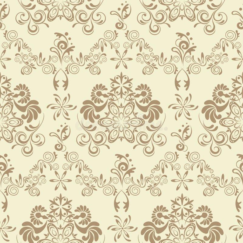 Teste padrão floral sem emenda abstrato ilustração royalty free