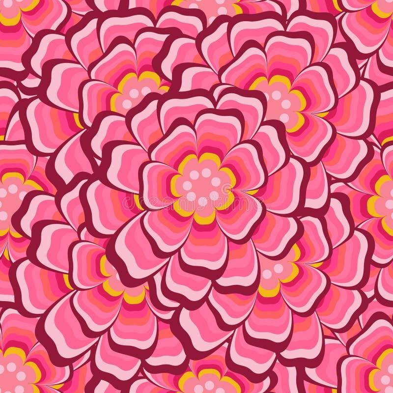 Teste padrão floral sem emenda abstrato com rosas ilustração stock