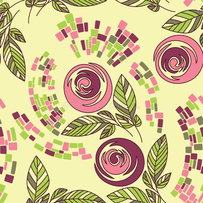 Teste padrão floral sem emenda bonito ilustração stock