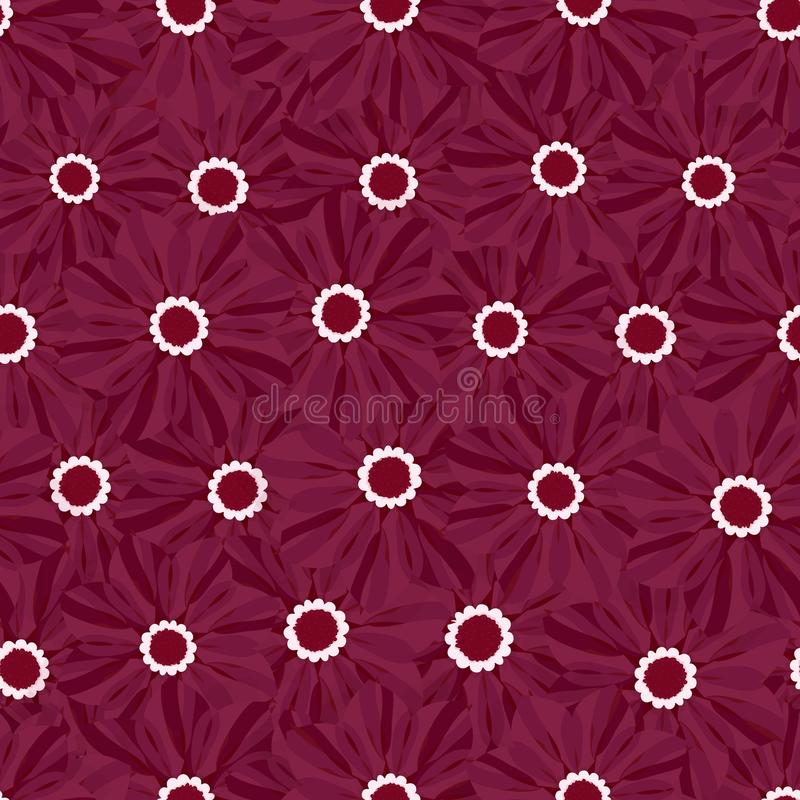 Teste padrão floral sem emenda bonito Ilustração do vetor da flor Campo das flores ilustração royalty free
