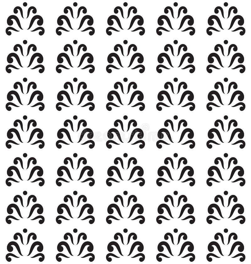 Teste padrão floral sem emenda, cópia sem emenda com redemoinhos, fundo sem emenda abstrato em preto e branco ilustração royalty free