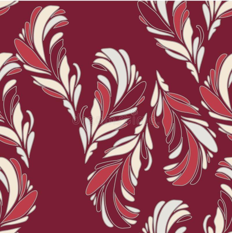 Teste padrão floral sem emenda com flores ilustração royalty free