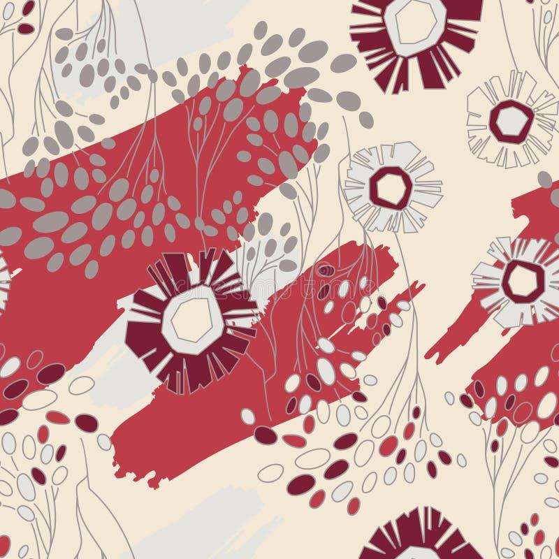 Teste padrão floral sem emenda com flores ilustração stock