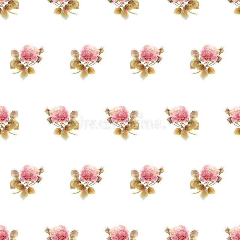 Teste padrão floral sem emenda com rosas fotos de stock