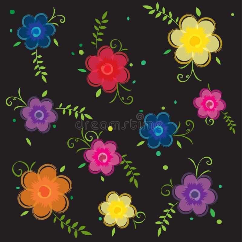 Teste padrão floral sem emenda decorativo do papel de parede do fundo da flor ilustração stock