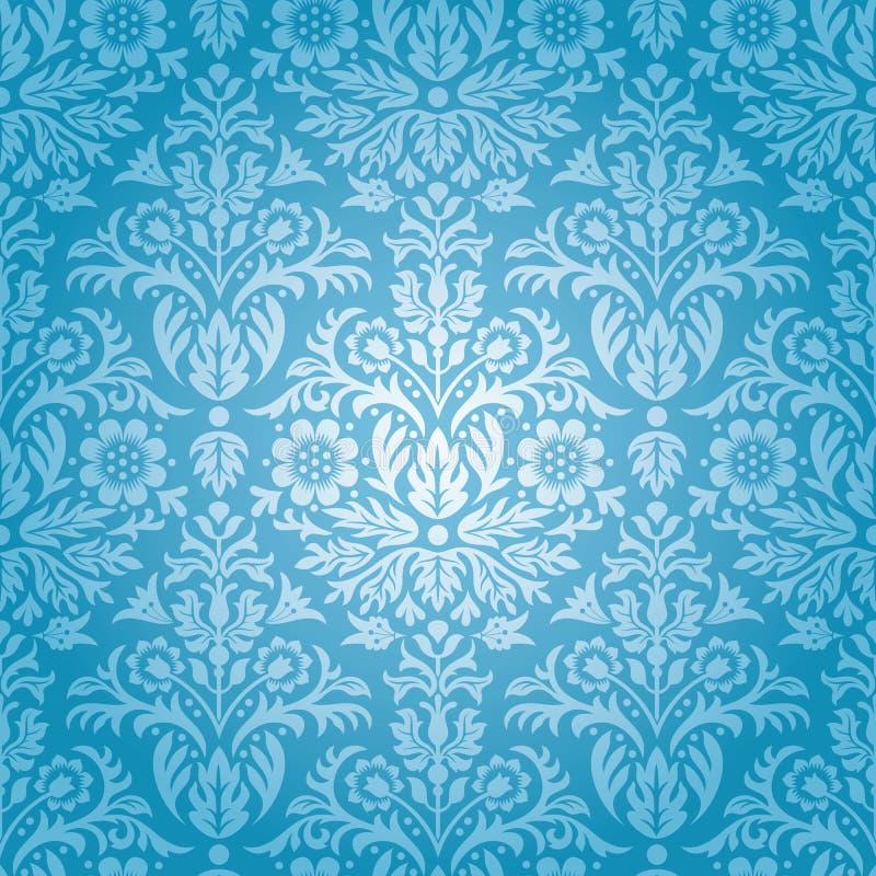 Teste padrão floral sem emenda do damasco ilustração do vetor