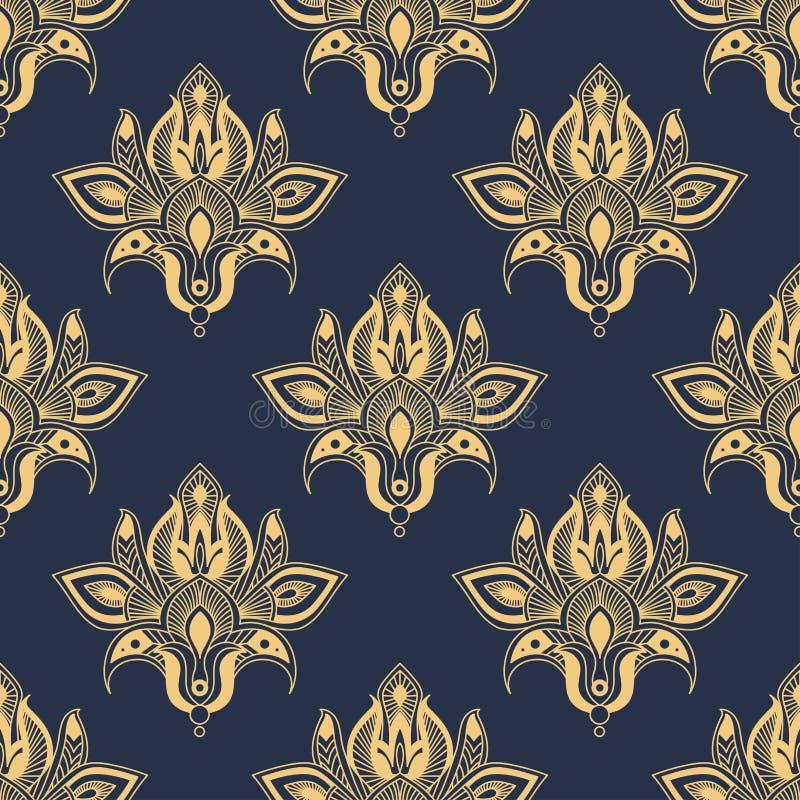 Teste padrão floral sem emenda do damasco delicado ilustração royalty free