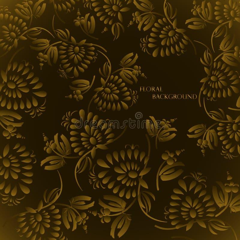 Teste padrão floral sem emenda do fundo ilustração stock