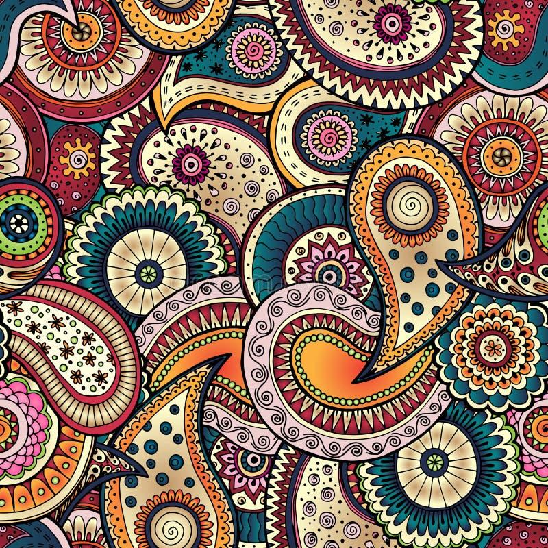 Teste padrão floral sem emenda do fundo no vetor ilustração royalty free