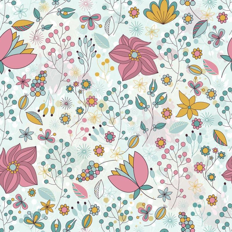 Teste padrão floral sem emenda do vetor fotos de stock royalty free