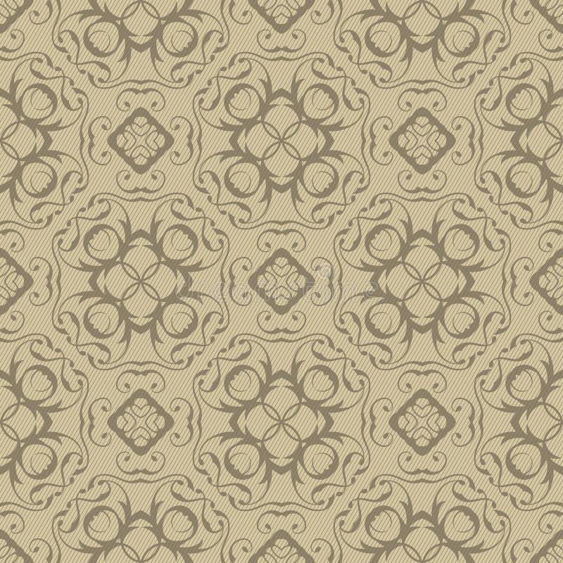 Teste padrão floral sem emenda do vintage ilustração royalty free