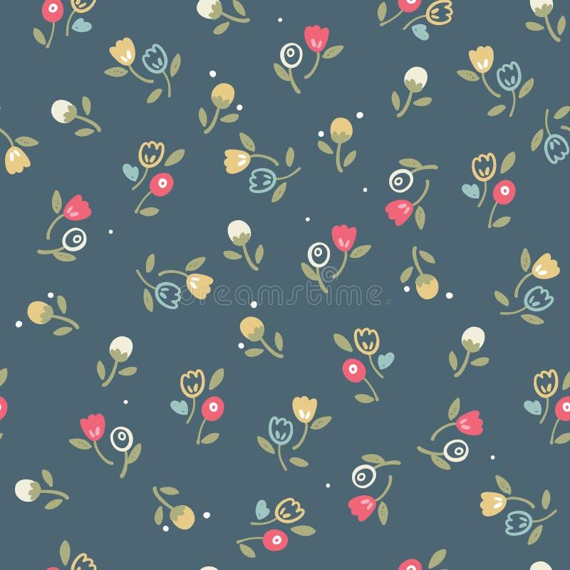 Teste padrão floral sem emenda do vintage fotos de stock royalty free