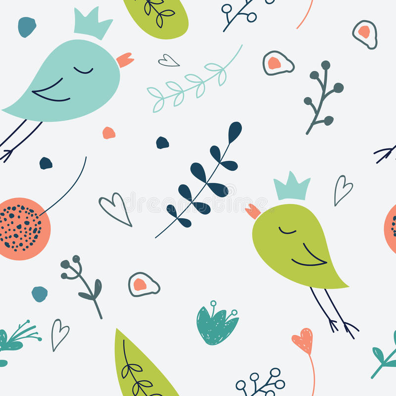 Teste padrão floral sem emenda Ilustração do amor do flowe bonito ilustração royalty free