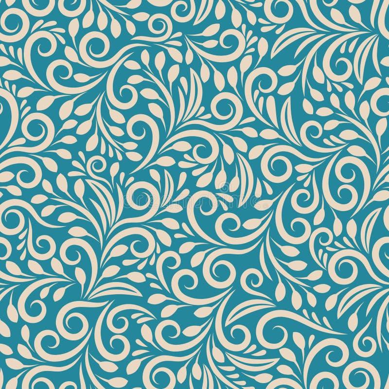 Teste padrão floral sem emenda no fundo uniforme ilustração royalty free