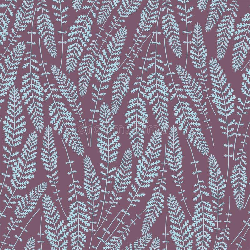 Teste padrão floral sem emenda Repetindo a textura em um fundo violeta Aperfeiçoe imprimindo na tela ou forre ilustração do vetor
