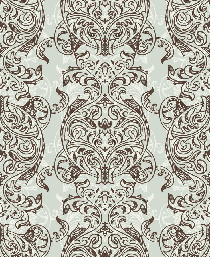 Teste padrão floral sem emenda retro ilustração do vetor