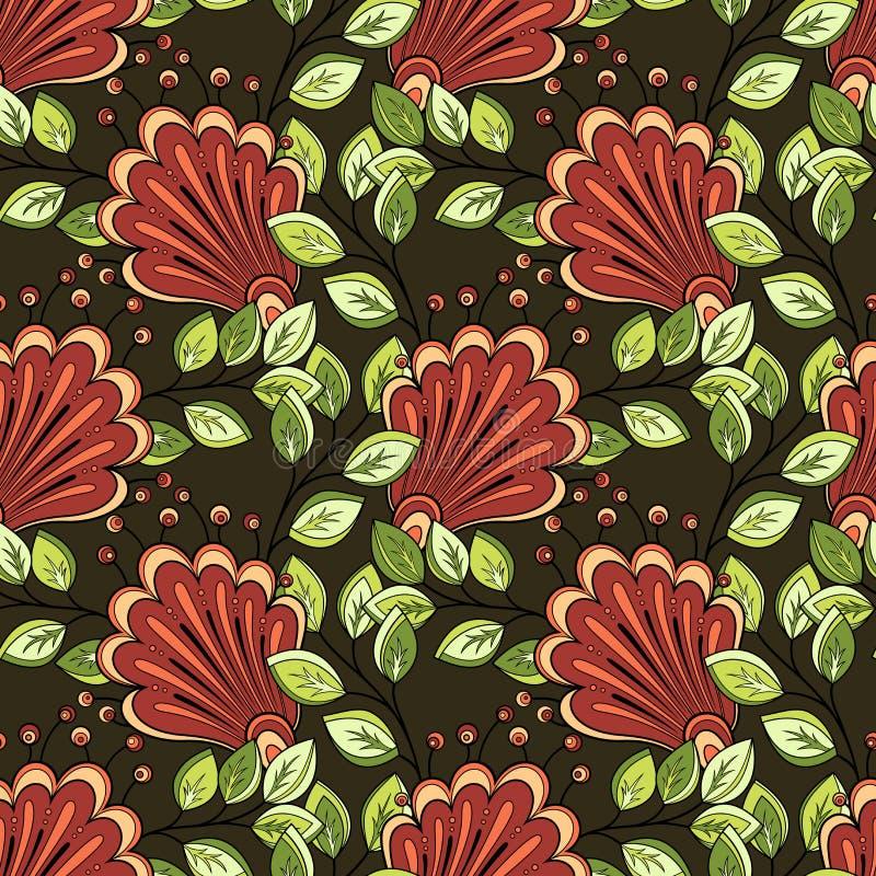 Teste padrão floral sem emenda (vetor) ilustração stock