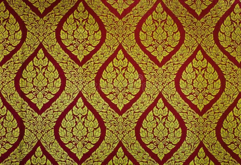 Teste padrão floral tailandês tradicional imagens de stock royalty free