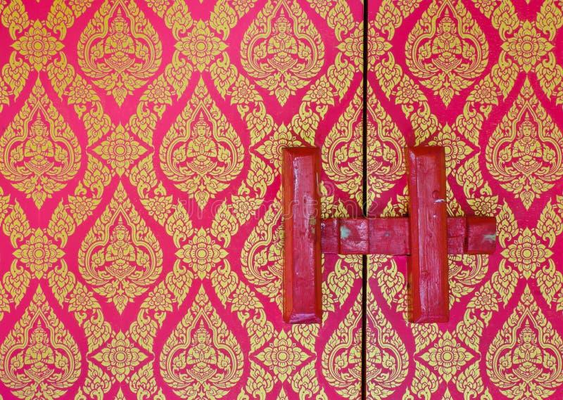 Teste padrão floral tailandês tradicional foto de stock