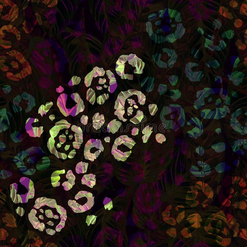 Teste padrão floral tropical feito a mão sem emenda ilustração royalty free