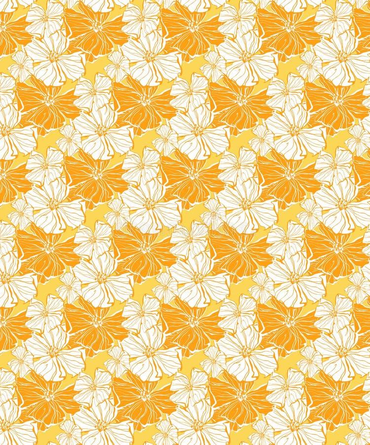 Teste padr?o floral tropical, sem emenda ensolarados para telas e papel de parede ilustração stock