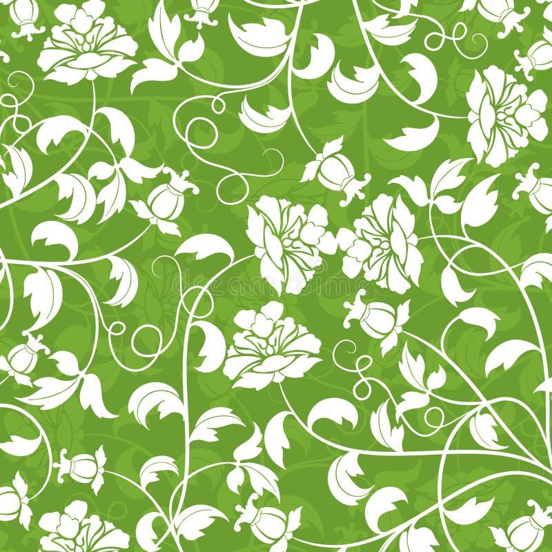 Teste padrão floral, vetor ilustração stock