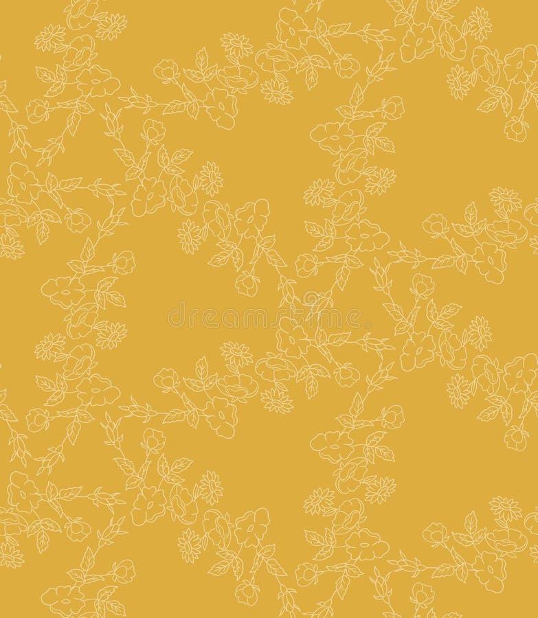 Teste padrão flowers ilustração do vetor