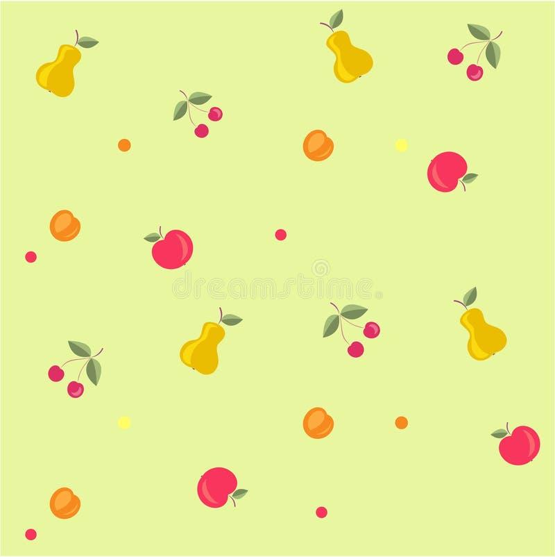 Teste padrão fruity sem emenda ilustração do vetor