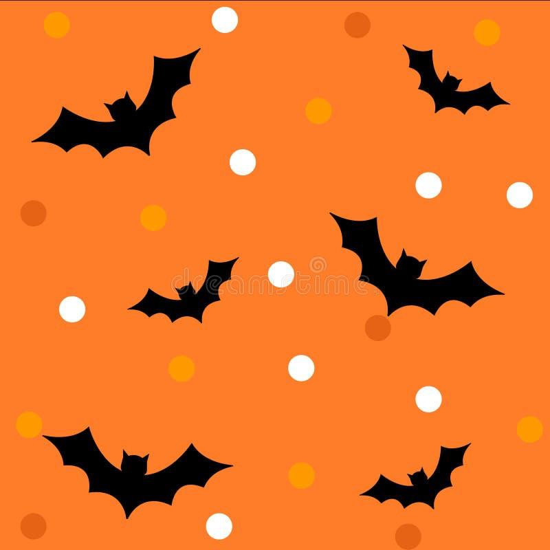 Teste padrão/fundo de Halloween ilustração royalty free