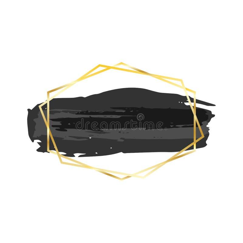 Teste padrão Fundo pintado à mão listrado Marinheiro retro Stripes do moderno do Grunge Linhas horizontais teste padrão sem emend ilustração stock