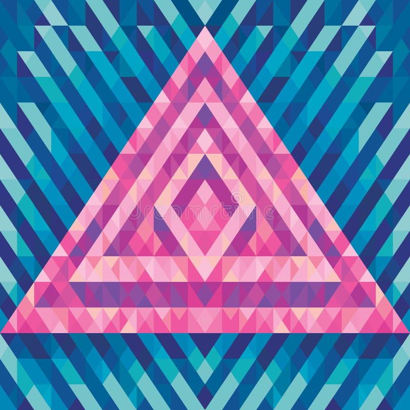 Teste padrão geométrico 72 ilustração stock