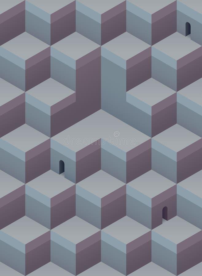 Teste padrão geométrico ilustração do vetor