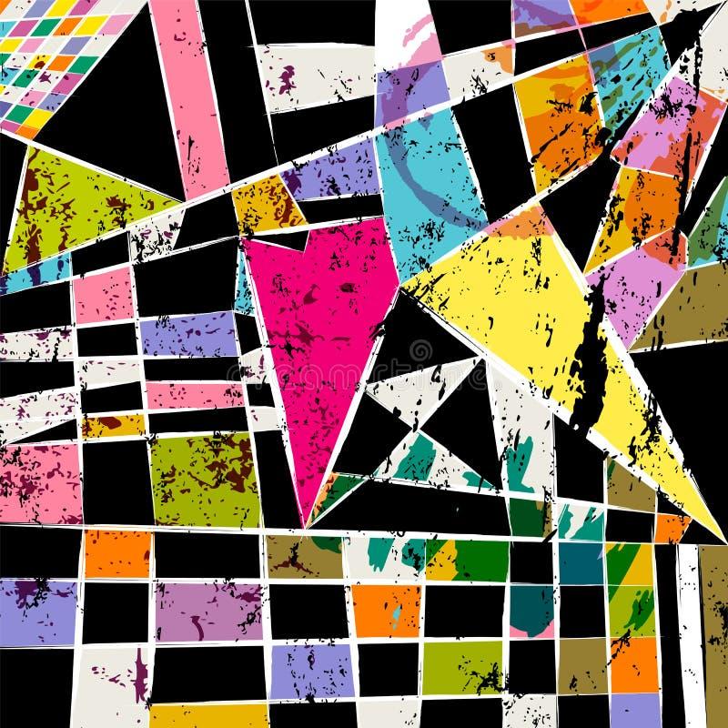 Teste padrão geométrico abstrato do fundo ilustração do vetor