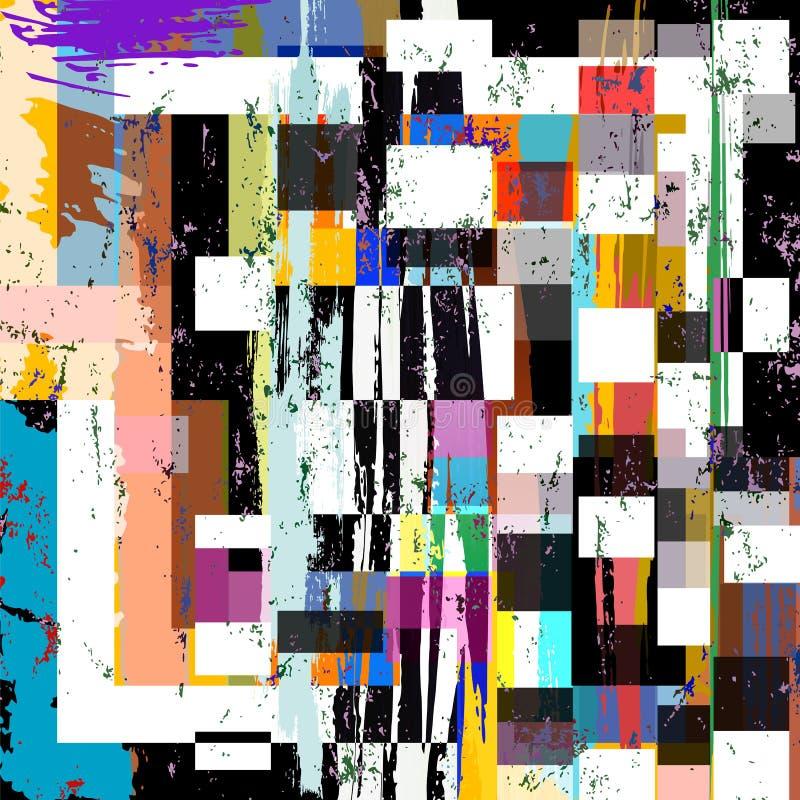Teste padrão geométrico abstrato do fundo, ilustração do vetor