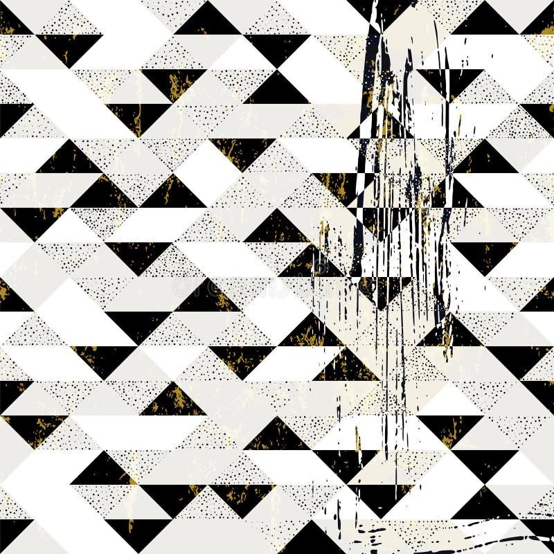 Teste padrão geométrico abstrato do fundo, com triângulos, pontos, pai ilustração royalty free