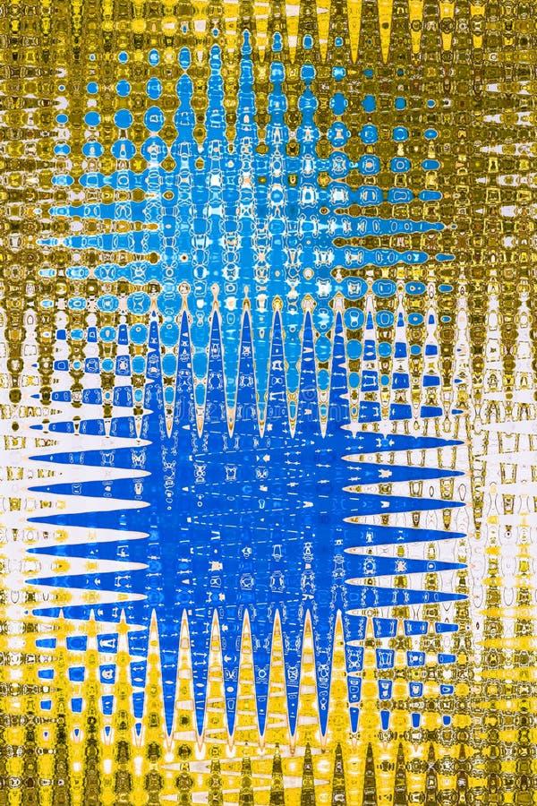 Teste padrão geométrico abstrato do vidro geado do projeto ilustração stock