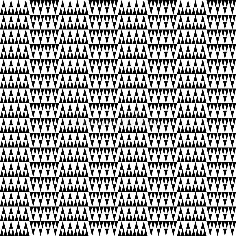 Teste padrão geométrico abstrato em preto e branco ilustração stock