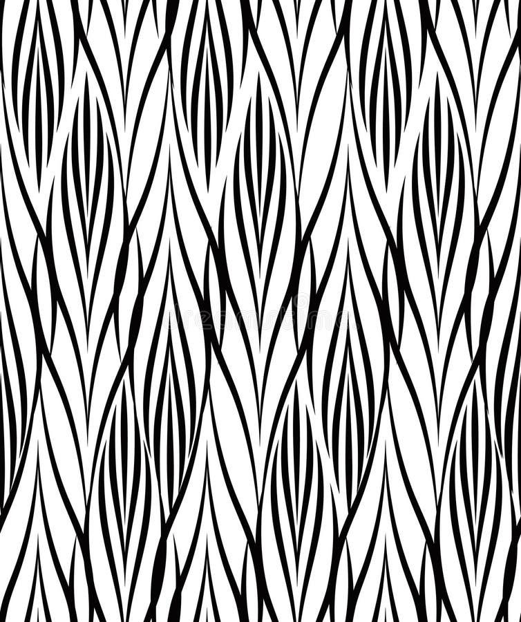 Teste padrão geométrico abstrato Linha sem emenda orname preto e branco ilustração do vetor