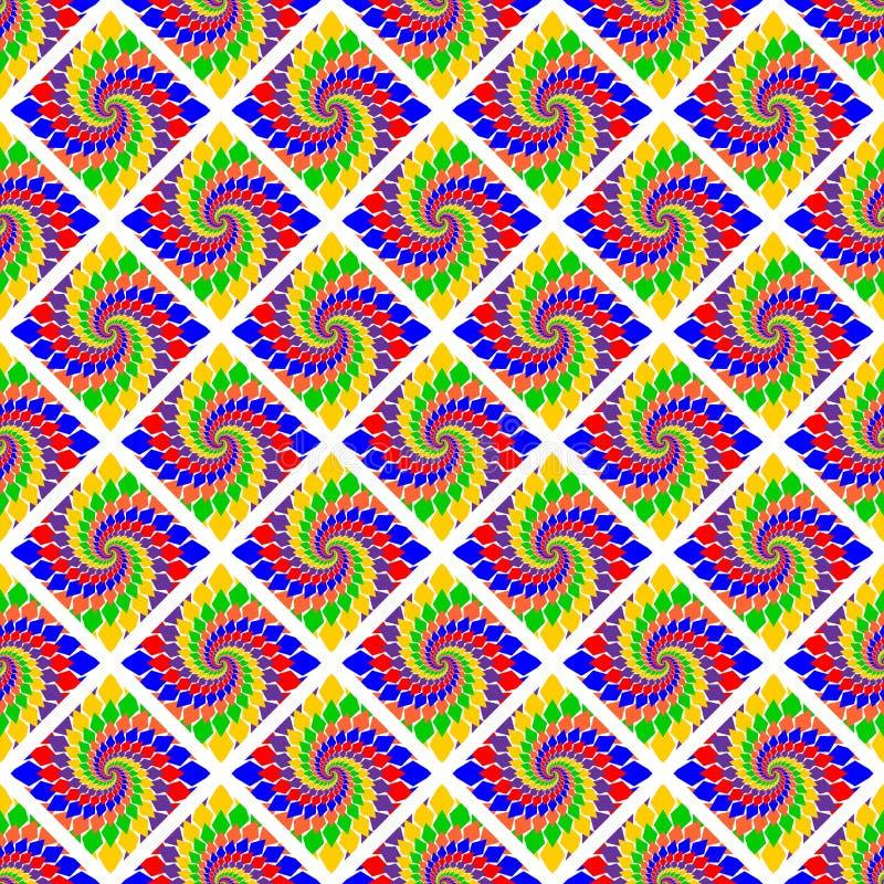 Teste padrão geométrico abstrato multicolorido do projeto ilustração do vetor