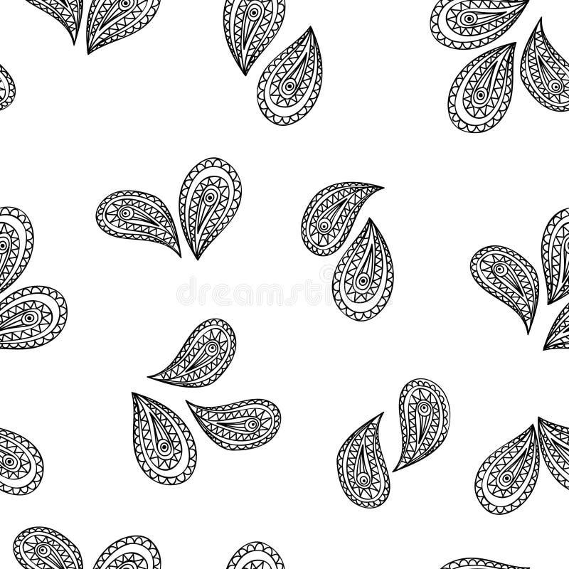 Teste padrão geométrico abstrato Origem étnica oriental floral A ilustração do vetor