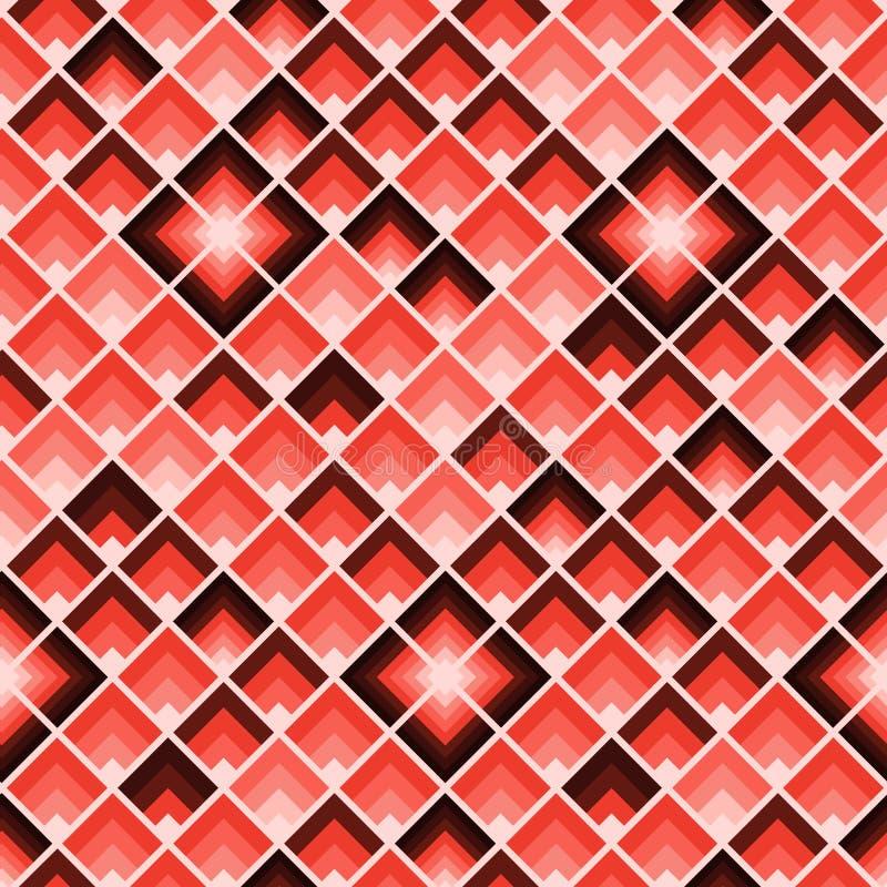 Teste padrão geométrico abstrato Repetição dos retângulos Telha colorida coral dos quadrados ilustração royalty free