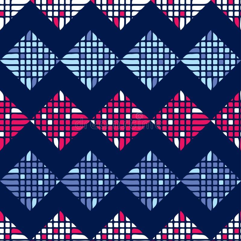 Teste padrão geométrico abstrato sem emenda pixels Textura do mosaico brushwork Choque da mão ilustração do vetor