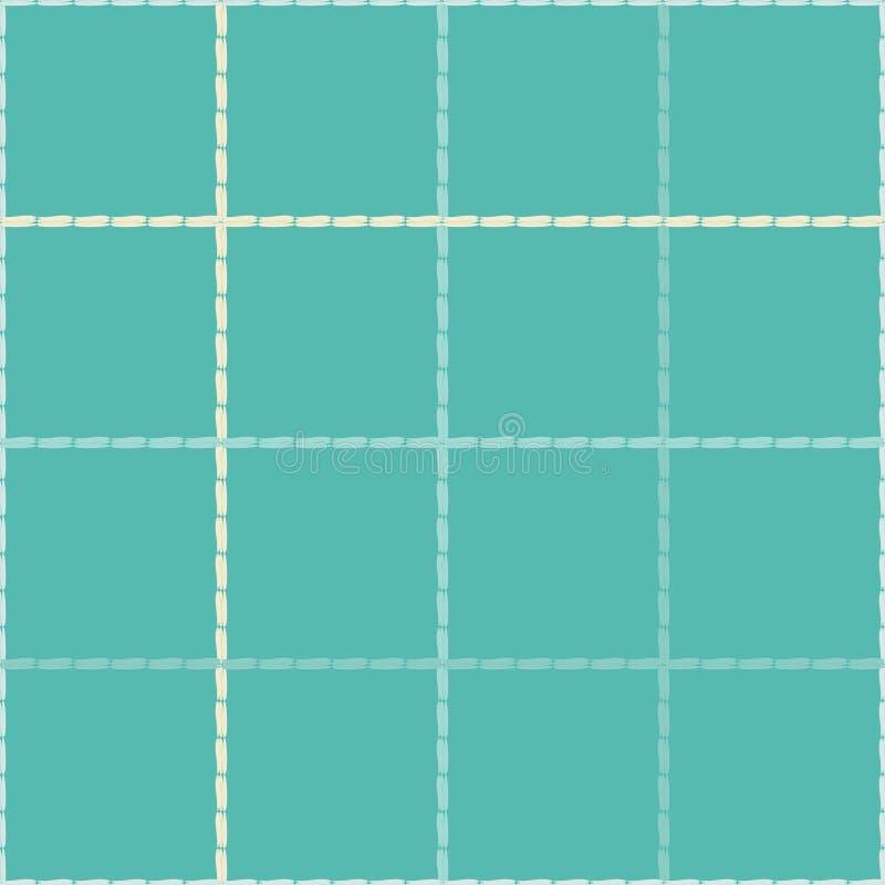 Teste padrão geométrico abstrato sem emenda tiras Choque da mão Textura do garrancho Teste padrão do vetor Textura do mosaico ilustração royalty free