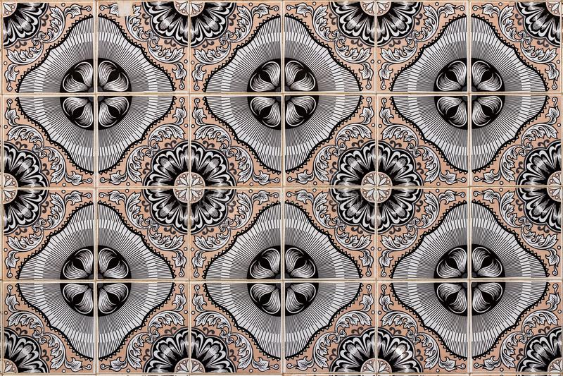 Teste padrão geométrico antigo da telha imagens de stock