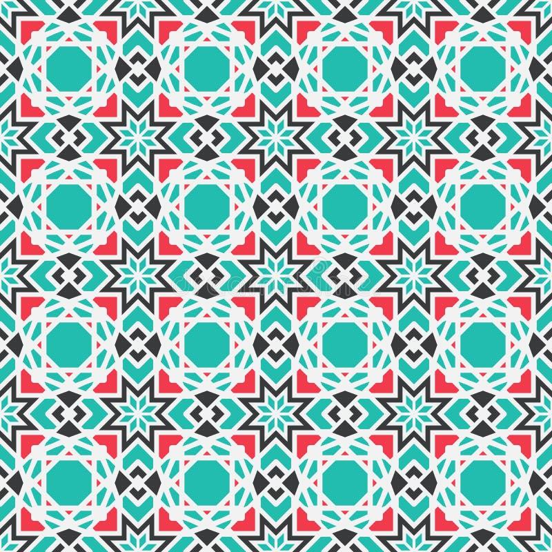 Teste padrão geométrico asiático do vetor ilustração stock