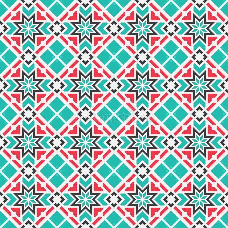 Teste padrão geométrico asiático do vetor ilustração do vetor