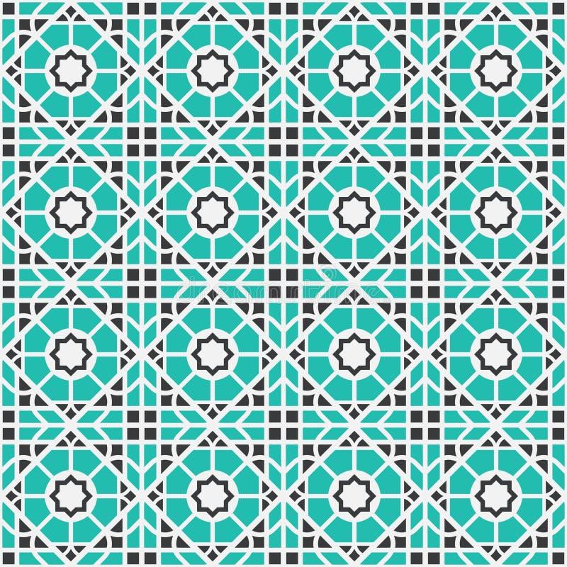 Teste padrão geométrico asiático do vetor ilustração royalty free