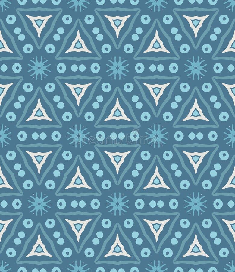 Teste padrão geométrico azul ilustração stock
